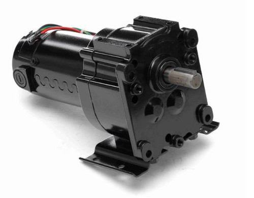 Leeson Parallel Shaft 1/20 hp, 9 RPM 90 Volts DC TENV Electric Gear Motor # M1115025