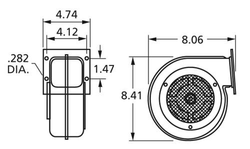 Centrifugal Blower (7063-5366, 7063-8322) 115 Volts Fasco