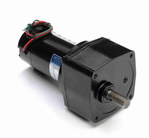 M1135107.00 Leeson |   Parallel Shaft 1/8 hp, 14 RPM 90 Volts DC TENV Electric Gear Motor