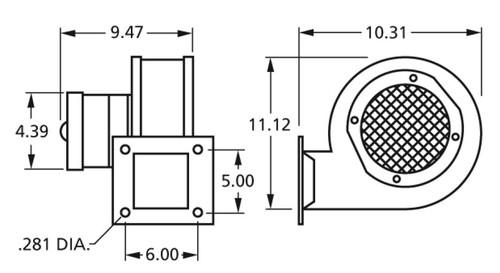 Centrifugal Blower 230V 2-Speed Fasco # 50769-D230 (Dayton