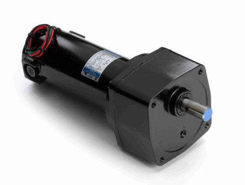 Leeson Parallel Shaft 1/4 hp, 21 RPM 90 Volts DC TENV Electric Gear Motor # M1135117