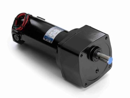 Leeson Parallel Shaft 1/4 hp, 27 RPM 90VDC Electric Gear Motor # M1135115