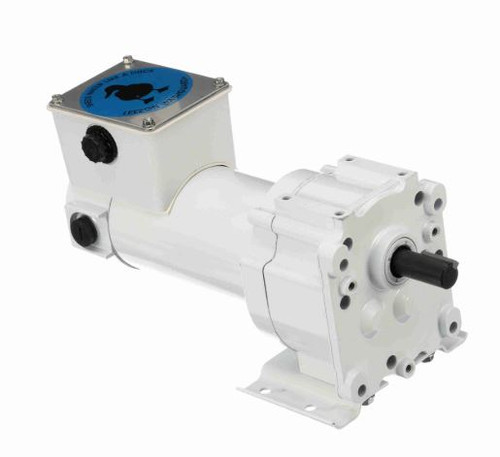 M1125261.00 Leeson |   Parallel Shaft Wash Down 1/20 hp, 5 RPM 90 Volts DC TEFC Electric Gear Motor