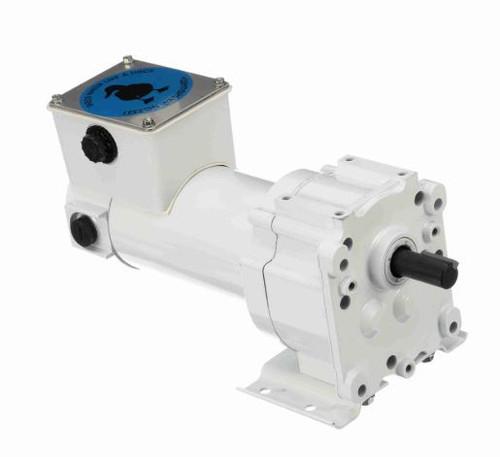 Leeson Parallel Shaft Washdown 1/8 hp, 51 RPM 90VDC Electric Gear Motor # M1125263