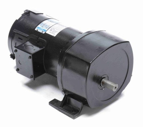 Leeson Parallel Shaft 1/4 hp, 12 RPM 90VDC Electric Gear Motor # 108701