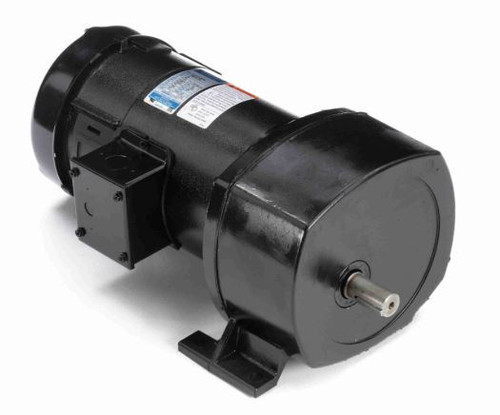 Leeson Parallel Shaft 1/2 hp, 42 RPM 12VDC TEFC Electric Gear Motor # 108731