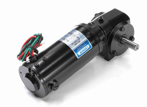 M1115021.00 Leeson |   Right Angle 1/17 hp, 250 RPM 90 Volts DC TENV Electric Gear Motor