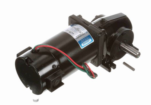 Leeson Right Angle 1/8 hp, 62 RPM 180 Volts DC TENV Electric Gear Motor # M1135058