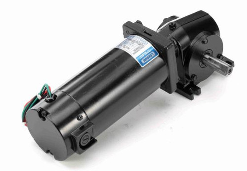 Leeson Right Angle 1/4 hp, 83 RPM 180 Volts DC TENV Electric Gear Motor # M1135063