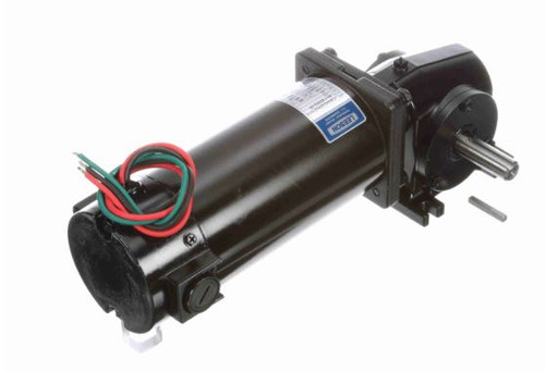 Leeson Right Angle 1/4 hp, 62 RPM 12 Volts DC TENV Electric Gear Motor # M1135251