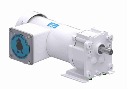 Leeson Parallel Shaft Washdown 1/6 hp, 16 RPM 190V 3 phase Electric Gear Motor # M1145144