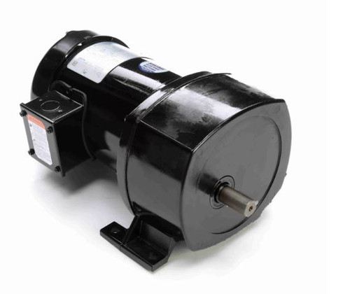 Leeson Parallel Shaft 1/3 hp, 26 RPM 208-230/460 Electric Gear Motor # 107026