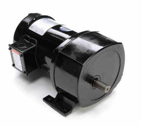 Leeson Parallel Shaft 1/3 hp, 59 RPM 208-230/460 Electric Gear Motor # 107028