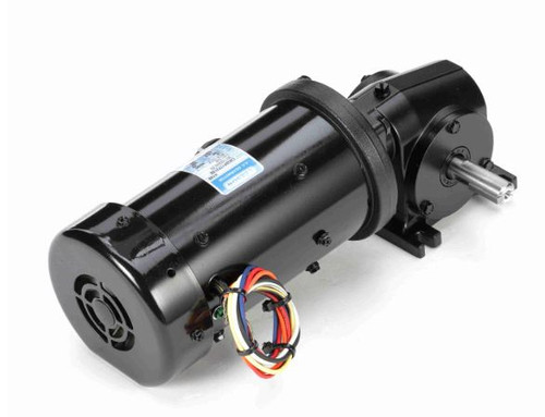 Leeson Right Angle 1/6 hp, 83 RPM TEFC 115/230V Electric Gear Motor # M1145039