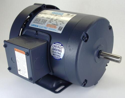 121938.00 Leeson |  1 hp 1140 RPM 145T Frame TEFC 575V