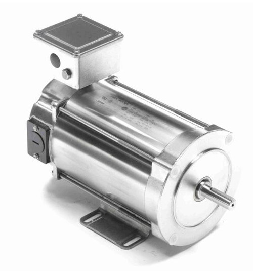 109065.00 Leeson |  1/4 hp 1750 RPM 56C With Base 90 VDC TENV Stainless Steel