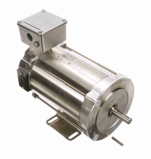109067.00 Leeson |  1/3 hp 1750 RPM 56C With Base 180 VDC TENV  Stainless Steel