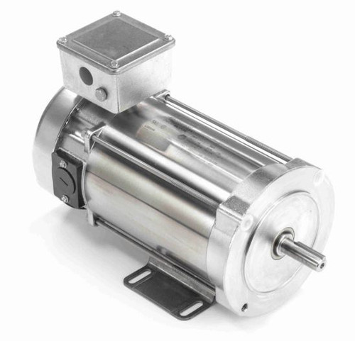109070.00 Leeson |  1/2 hp 1750 RPM 56C With Base 180 VDC TEFC  Stainless Steel