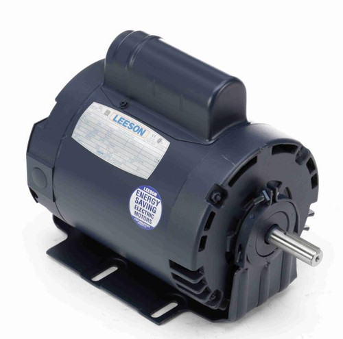 114229.00 Leeson |  1 hp 1425 RPM 56 Frame ODP 110/220V 50hz.Resilient Base