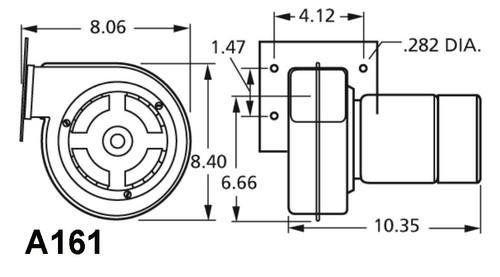 Brinkley, Fedders Furnace Draft Inducer Blower 230V