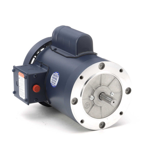 113924.00 Leeson |  1 hp 1425 RPM 56C Frame TEFC No Base 110/220V 50hz.