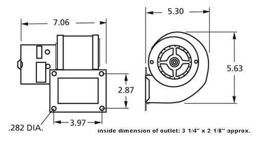 Centrifugal Blower 115 Volts (Replaces Dayton 4C005, 4C446