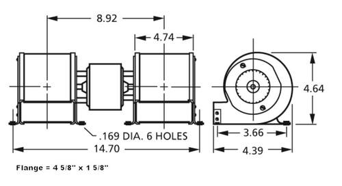 Centrifugal Blower 115V 7021-10550, 7021-7624, 7021-7931