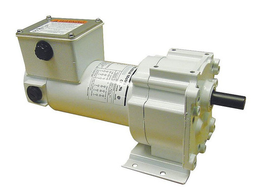 5CJA9 Dayton Washdown Parallel Shaft Gear Motor 1/8 hp 51 RPM 90 Volt DC