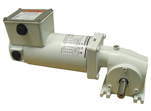 5CJC7 Dayton Washdown Right Angle Gear Motor 1/8 hp 42 RPM 90 Volt DC