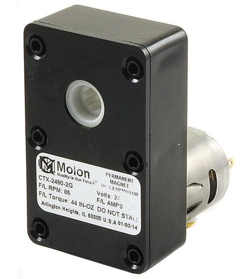 Molon CTX-2480-2 (24V) Gear Motor 1/64 hp 85 RPM 24 Volt DC