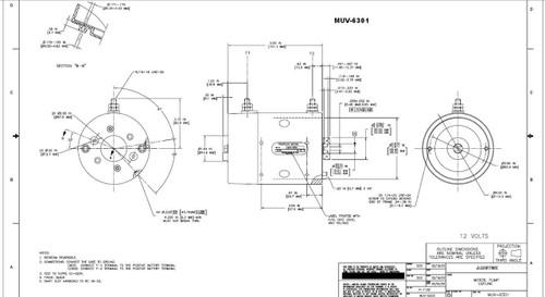 Prestolite Motor MUV-6301 Hydraulic DC Lift Gate Motor