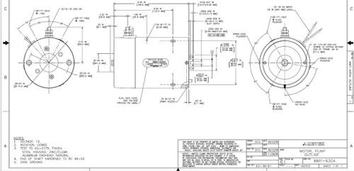 Prestolite Motor MMY-6304 Hydraulic DC Lift Gate Motor