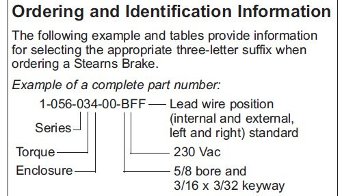 105602200BQF Stearns Brake Assembly