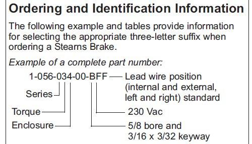 105603200BPF Stearns Brake Assembly