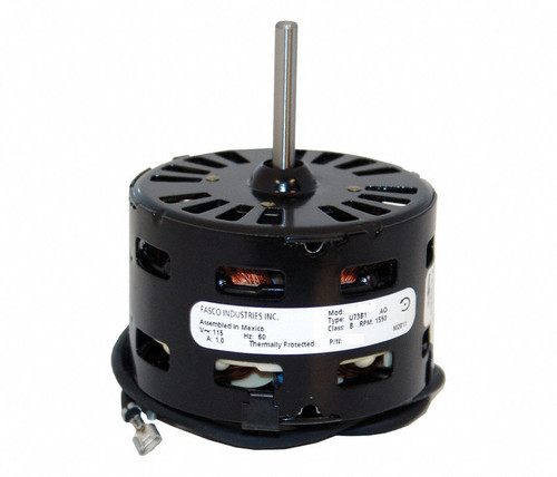 "Fasco D105 Motor | 1/37 hp 1500 RPM CCW 3.3"" Diameter 115 Volts"