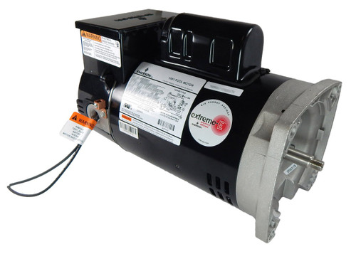 .75 hp 2-Speed 56Y Frame 230V Square Flange Pool Motor with Timer US Electric Motor # EB2980T