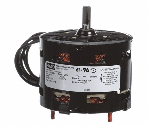"Fasco D107 Motor | 1/160 hp 600 RPM CCW 3.3"" Diameter 208-240 Volts"
