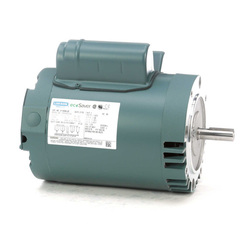 E110384.00 Leeson |  1 hp 3450 RPM 56C Frame ODP C-Face (no base) 115/230V