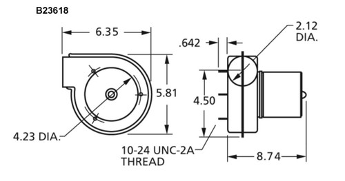 Draft Inducer Blower 115 Volts Fasco # B23618