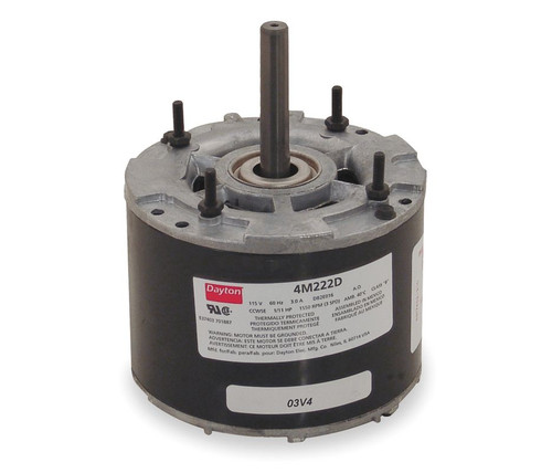 "4M222 Dayton 4.4"" Fan Motor 1/11 hp, 1550 RPM, 3-Spd,CCWSE 115V"