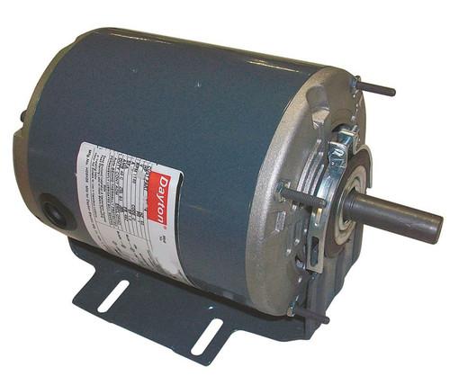 1/2 hp 1725 RPM 115/208-230V Belt Drive Hi-Temp Split-Phase Motor Dayton # 4VAG2