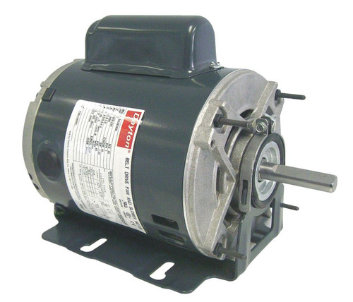 4VAG4 Dayton 1/4 hp 1725 RPM 115/208-230V Belt Drive Hi-Temp Cap-Start Motor