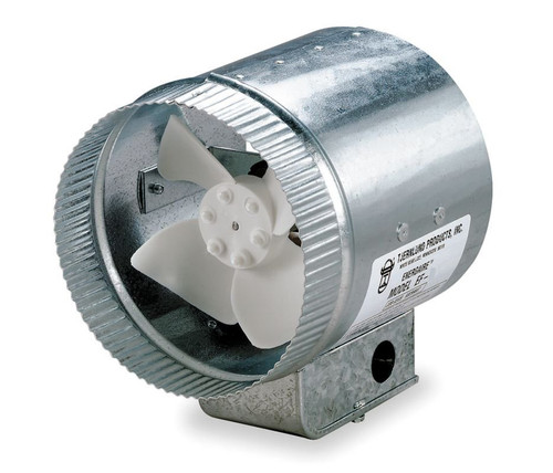 "Tjernlund 8"" Round In-Line Air Duct Booster Fan 120 Volt # EF-8"