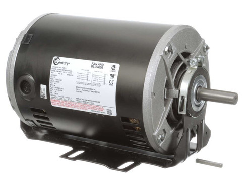 F681V1 Century 3/4 hp 1725 RPM 56 Frame 115/230V Belt Drive Blower Motor