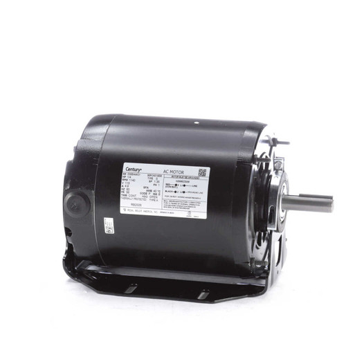 1/4 hp 1140 RPM 56 Frame 115V Belt Drive Blower Motor Ball Brgs Century # RB2026