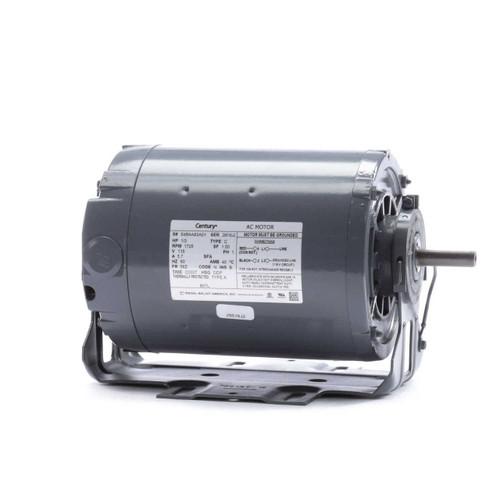 Model 807L Century 1/3 hp 1725 RPM 56Z Frame 115V Belt Drive Blower Motor Century # 807L