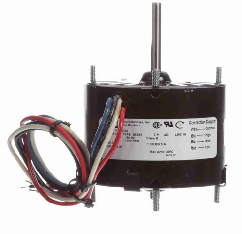 "Fasco D1134 Motor | 1/50 hp 1300 RPM 3-Speed CW 3.3"" Diameter 115V (West Bend McGraw)"