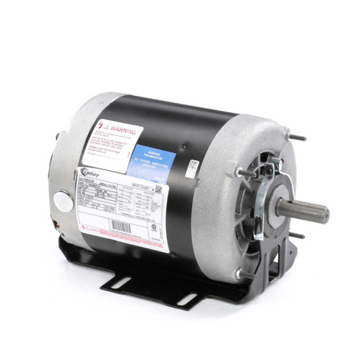 RB2036 Century 1/3 hp 1140 RPM 56 Frame ODP 115/230V Belt Drive Blower Motor Century Ball Brg # RB2036