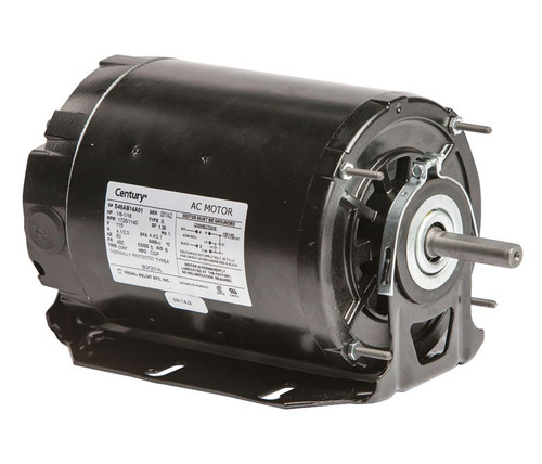 1/6 hp 1725 RPM 2-SPD 48Z Frame 115V Belt Drive Blower Motor Ball Brg Century # BGF2014L