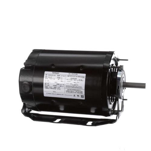 1/4 hp 1725 RPM 2-SPD 48Z Frame 115V Belt Drive Blower Motor Ball Brg Century # 924L
